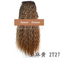 Шиньон, конский хвост, кудрявый, афро-кудряшки, длина - 60 см, цвет 2Т27