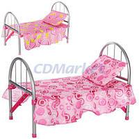 Melogo Акция! Детская кроватка для кукол Melogo 9342/WS 2772. Скидка 15% на вторую при покупке двух кроваток! Скидка до 30 % на товары для девочек при