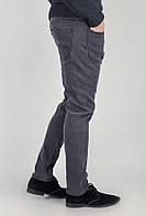 Джинсы на флисе мужские теплые 331K901 (Серый)