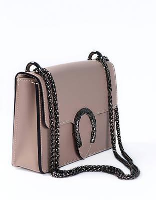 Сумка пудрового цвета (сумка бежевого цвета) Massimiliano Incas из натуральной кожи