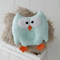 Детская подушка-игрушка для новорожденных MagBaby Совушка мятная