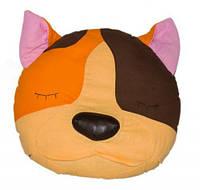 ПРОСТАР Подушка-сплюшка животное хлопок Кот №10 ПРО-32 (оранжевый) 30*10*30 см