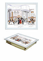 Поднос с подушкой Франция Код:380-9713011