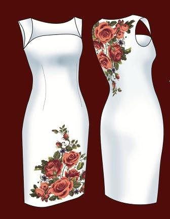 Заготовка для бисера платье