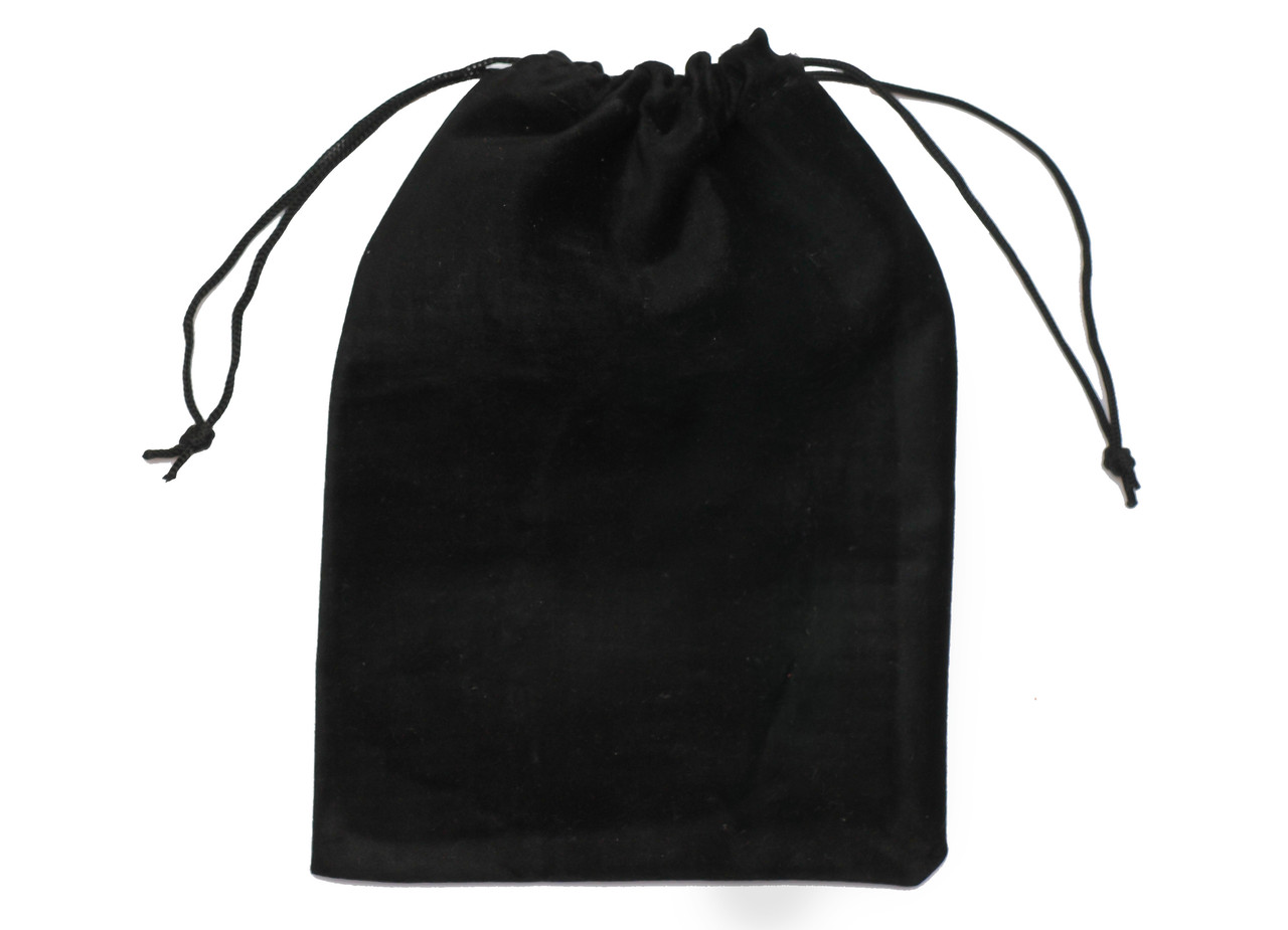 Мешочек бархатный для карт таро 12 х 17 см ( чёрный )