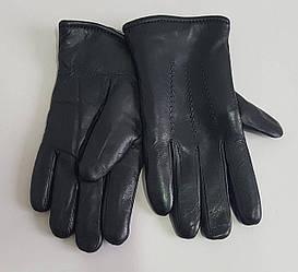 Перчатки теплые мужские кожаные