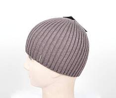 Зимняя вязанная мужская шапка