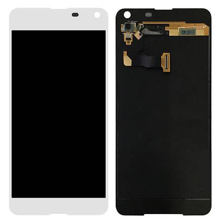 Дисплей (екран) для Microsoft (Nokia) 650 Lumia Dual Sim з сенсором (тачскріном) білий, фото 2