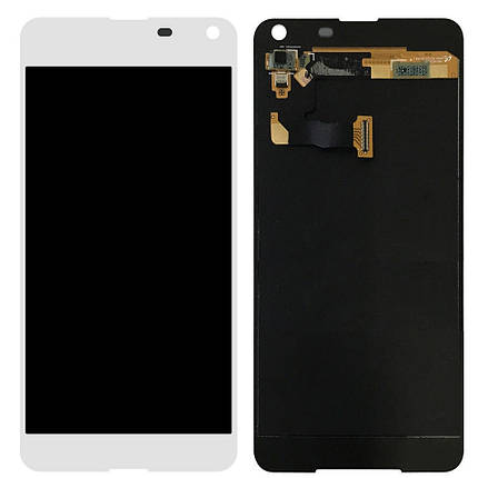 Дисплей (екран) для Microsoft (Nokia) 650 Lumia Dual Sim з сенсором (тачскріном) білий Оригінал, фото 2