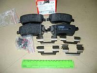 Колодка тормозная NISSAN MICRA (K12), NOTE (E11) передн. (производство TRW) (арт. GDB3332), ADHZX