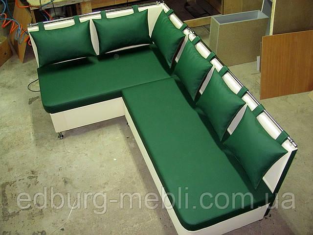 Кухонный уголок Комфорт с ящиками зеленый