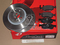 Комплект тормозной передн. DACIA LOGAN MCV 1.4-1.6 02.07- СИСТ=ATE (пр-во REMSA)