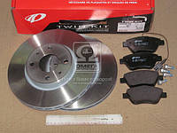 Комплект тормозной передн. FIAT DOBLO 1.3-1.9D 03-,IDEA 1.3D 1.9D 04-,PANDA (пр-во REMSA)