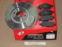 Комплект тормозной передн. PEUGEOT 308 1.4-2.0 07-,3008 1.6HDI 09- (пр-во REMSA)