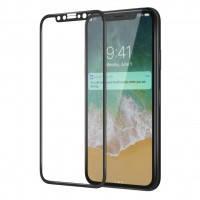 """Защитное цветное стекло для Apple iPhone X (5.8"""") (в упаковке)"""
