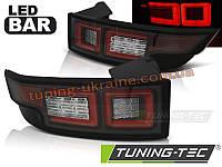 Задние фонари на Range Rover Evoque 2011 черные