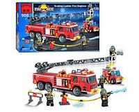 Конструктор BRICK 908 Пожарная тревога 607 деталей BRICK