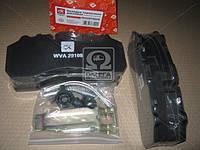 Колодка тормозная дисковая (комплект на ось) BPW, DAF XF95, IVECO, MB ACTROS, SAF, SCANIA  DK 29108PRO