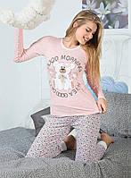 """Оригинальная пижама """"Нежный мишка"""". Женская пижама. Домашний костюм (кофта и брюки). Пижама с длинным рукавом."""