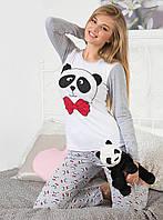 """Оригинальная пижама """"Милый панда"""". Женская пижама. Домашний костюм (кофта и брюки). Пижама с длинным рукавом."""