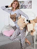 """Оригинальная пижама """"Медвежонок"""". Женская пижама. Домашний костюм (кофта и брюки). Пижама с длинным рукавом."""