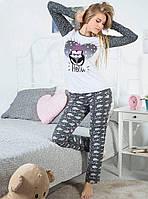 """Оригинальная пижама """"Hello"""". Женская пижама. Домашний костюм (кофта и брюки). Пижама с длинным рукавом."""