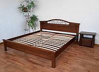 """Кровать двуспальная """"Фантазия - 2"""". Массив - сосна, ольха, береза, дуб."""