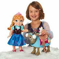 Набор кукла Анна, Олаф и СвенFrozen Toddler Anna Doll & Sven with Mini Olaf
