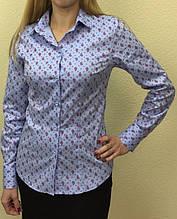 Женская блуза голубого цвета