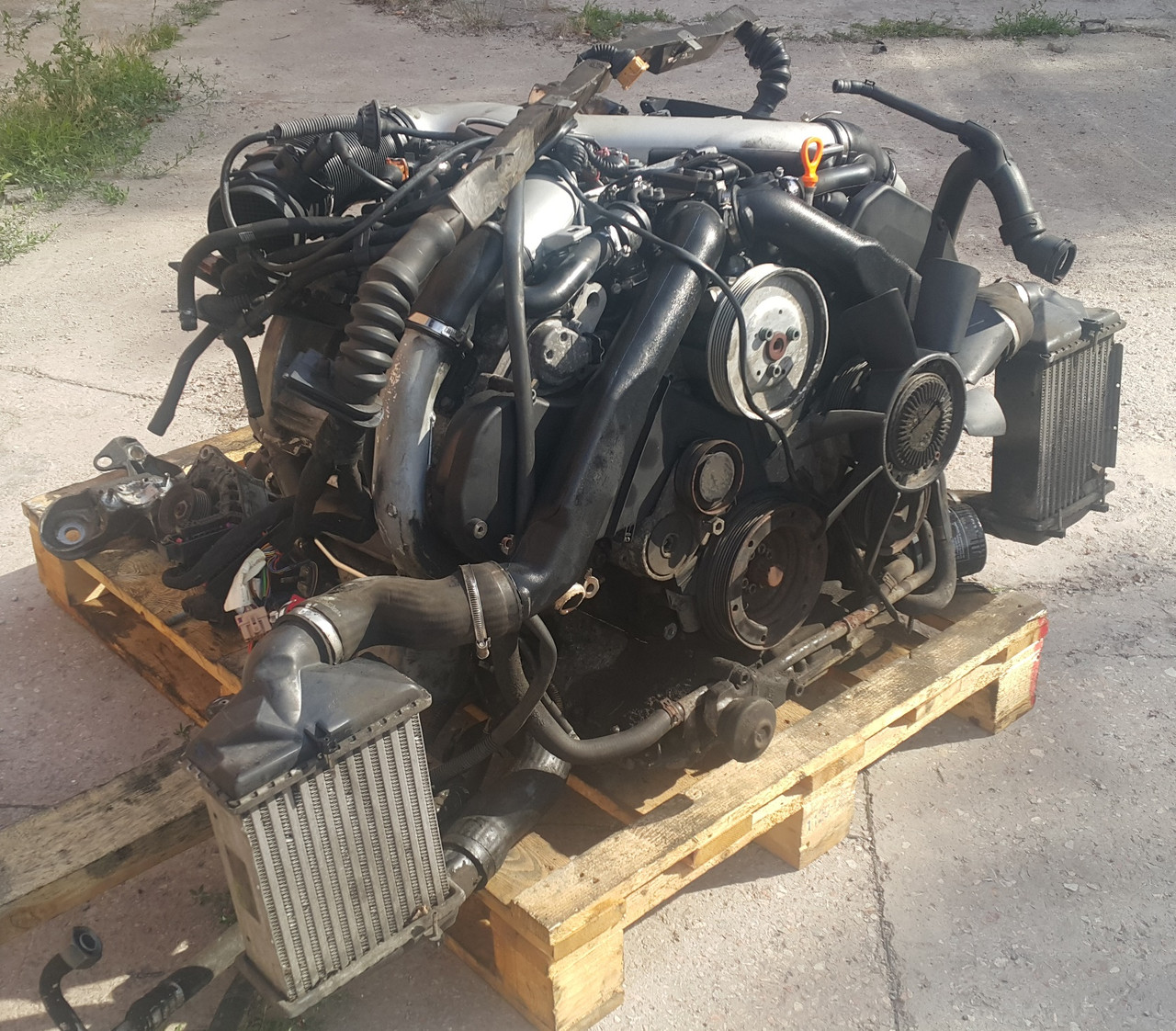 двигатель с навесным 27 Ajk Biturbo Audi A6 C5 цена 27 400 грн