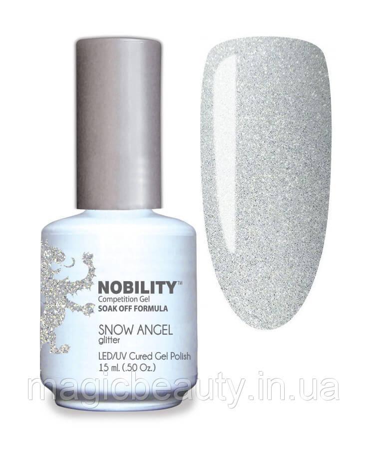 Гель-лак Lechat Nobility 127 Snow Angel - белый с золотым шиммером, 15 мл