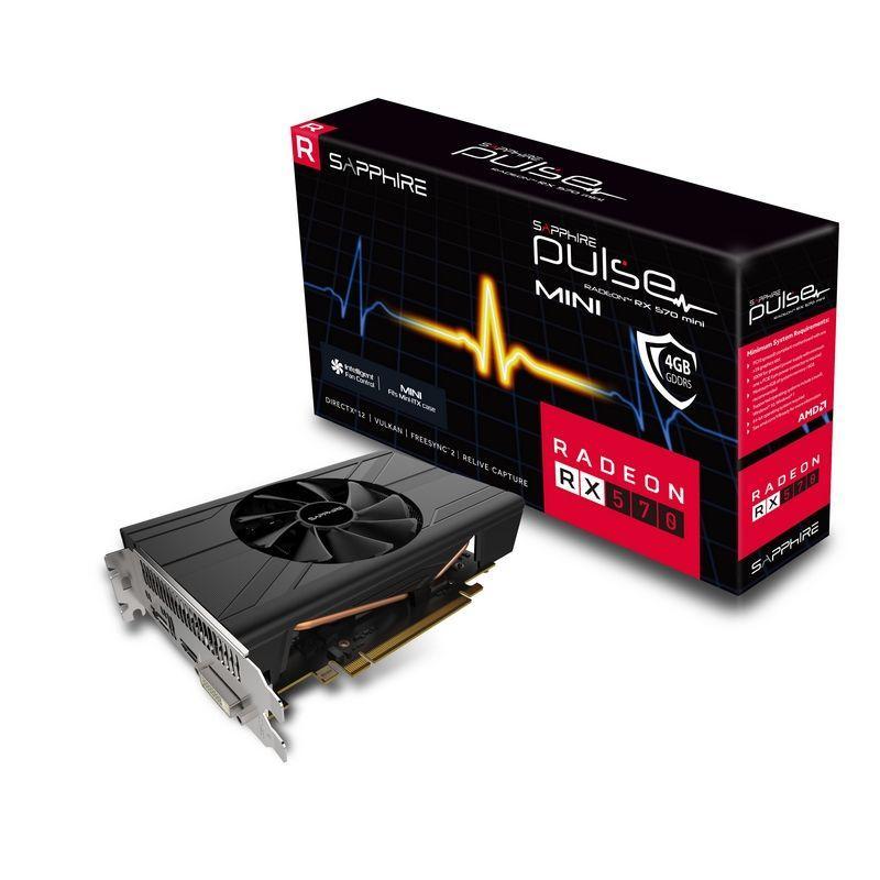 "Видеокарта Sapphire RX 570 Pulse ITX 4GB GDDR5 256bit (11266-06-20G) ""Over-Stock"" Б\У"