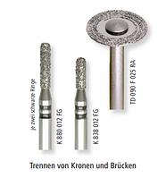 Алмазный бор для разрезания коронок FG турбина