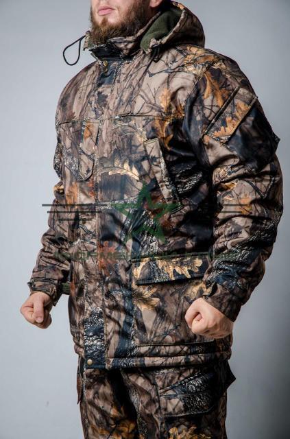 Бушлат, куртка зимова камуфляжний ліс