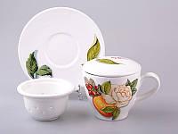 Чайшка заварочная с блюдцем и фильтром Nuova Cer Primavera 350 мл 7392-AER, 612-150