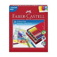 Акварельные цветные карандаши Grip 36 цветов в студийной коробке 112436 Faber-Castell