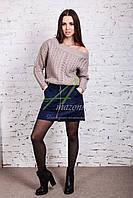 Женская замшевая юбка от производителя - модель 2018 - Код ю-13