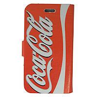 Чехол книжка для Samsung Galaxy S 3 III I9300 боковой Double Case, Coca Cola и Jack Daniels