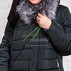 Зимнее женское пальто больших размеров 2017-2018 - (модель кт-245), фото 2
