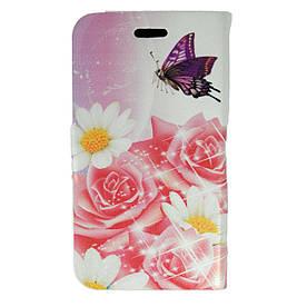 Чехол книжка для Samsung Galaxy S 3 III I9300 боковой Double Case, Сакура и букет роз