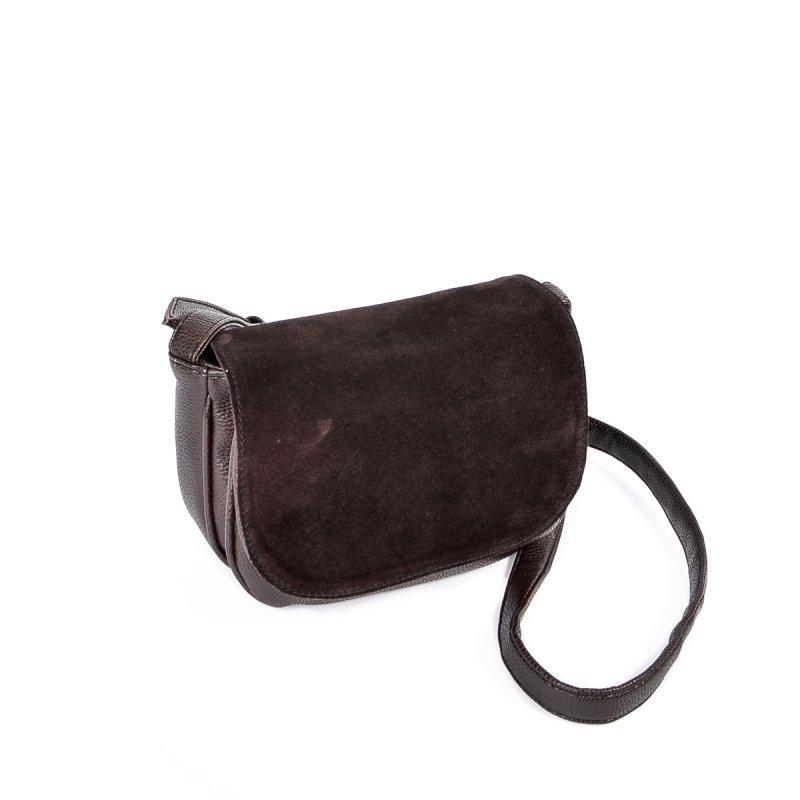64003be82232 Женская коричневая сумочка с замшевым клапаном М55-40/замш -  Интернет-магазин Dobrasumka