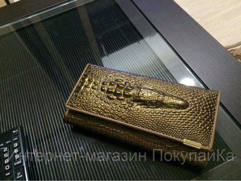 dc6f00a2b0d4 Кожаный женский кошелёк натуральная кожа Крокодил