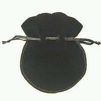 Мешочек бархатный для маятника 10 х 8,5 см.( чёрный )