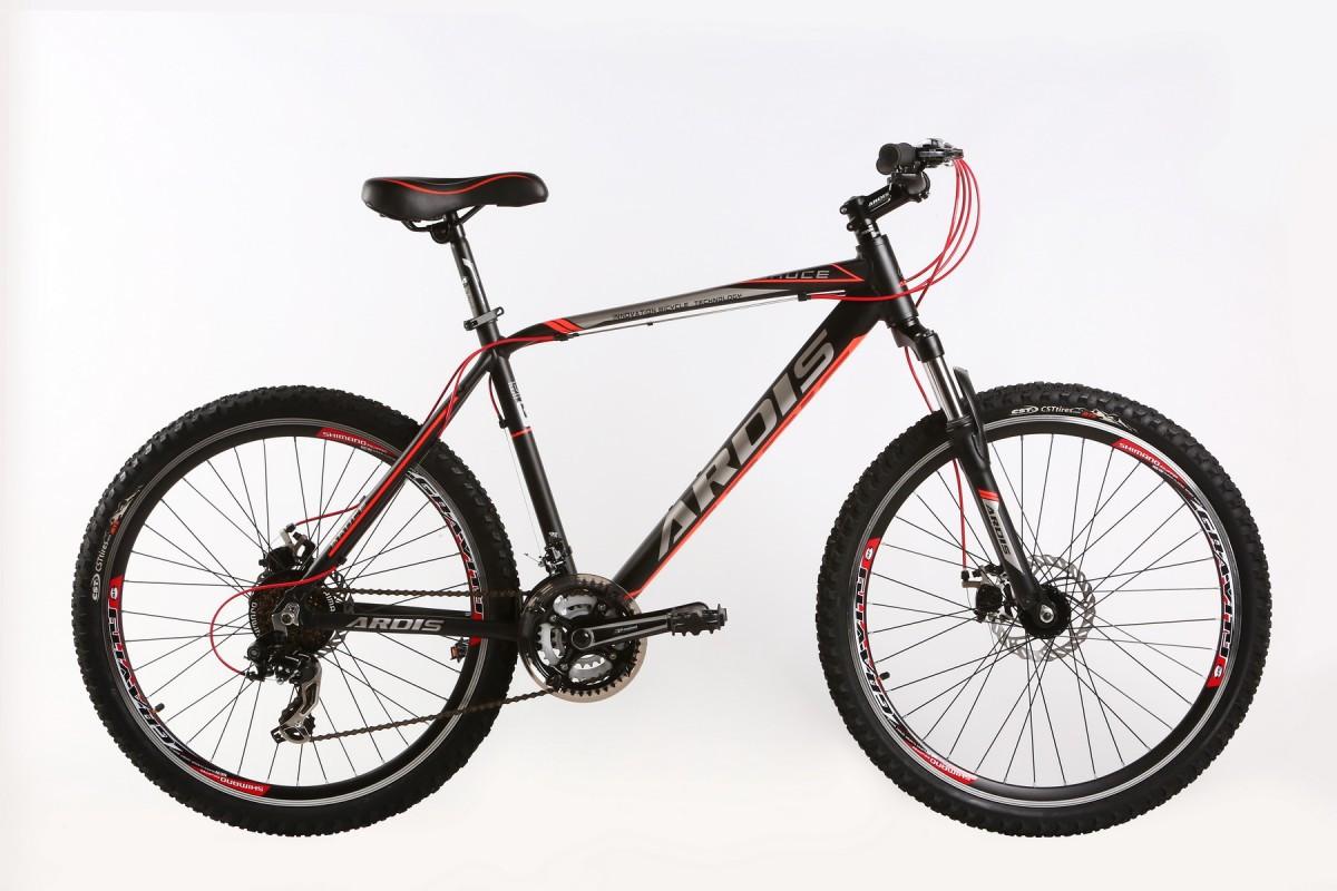 """Горный велосипед ARDIS BRUCE MTB 26"""" 19"""" Черный/Красный"""