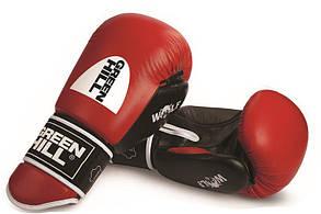 Рукавички бокс GREEN HILL KNOCK 10 унц, шкіра, червоні