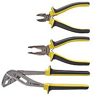 Шарнирно-губцевый инструмент, набор 3 шт, TOPEX