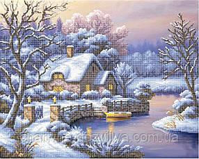 "Схема для вышивки на атласе ""Зима"""