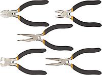 Прецизионный шарнирно-губцевый инструмент, набор 5 шт, TOPEX