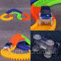Автомобильний гоночний трек - Magic Track 220 pcs, Меджик Трек 220 деталей + 2 машинки, фото 1