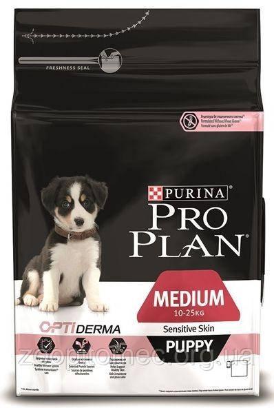 Корм Purina Pro Plan (Пурина Про План) PUPPY MEDIUM Sensitive для щенков средних пород, с лососем и рисом 12 к